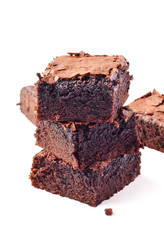 Brownie Recipes   Easy One Bowl Cocoa Brownies - Easy and Healthy Recipe Ideas for Brownies - Chocolate, Blondies, Gluten Free and Caramel