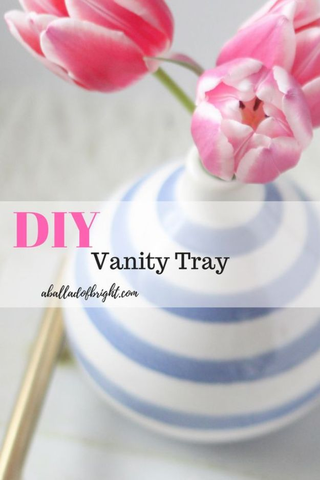 DIY Vanity Trays - Elegant Vanity Tray – From Baking Tins - Easy Homemade Decor for Bathroom, Bedroom and Vanities - Tray to Store Jewelry and Accessories With These Cool and Easy Crafts