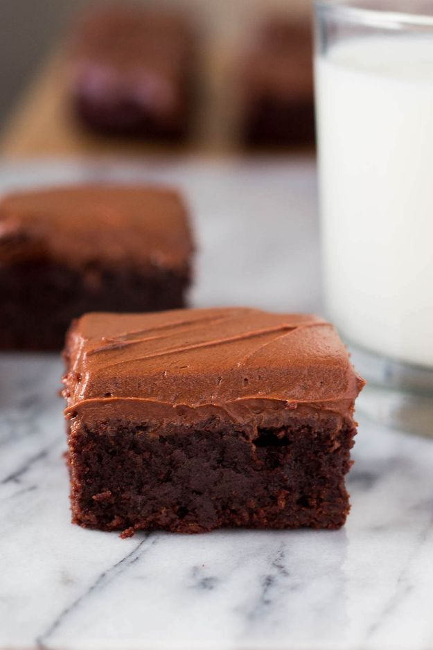 Brownie Recipes   Fudge Brownies with Chocolate Frosting - Easy and Healthy Recipe Ideas for Brownies - Chocolate, Blondies, Gluten Free and Caramel
