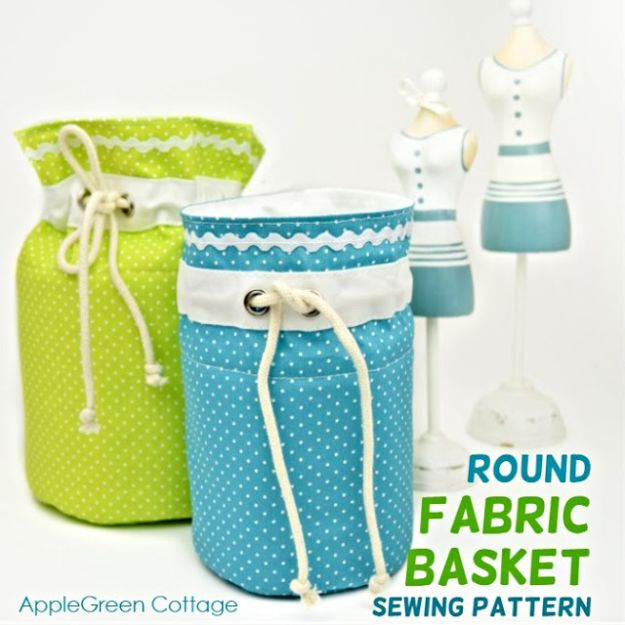 DIY Storage Baskets - Gorgeous DIY Fabric Basket - Cheap and Easy Ideas for Getting Organized - Creative Home Decor on A Budget - Farmhouse, Modern and Rustic Basket Projects