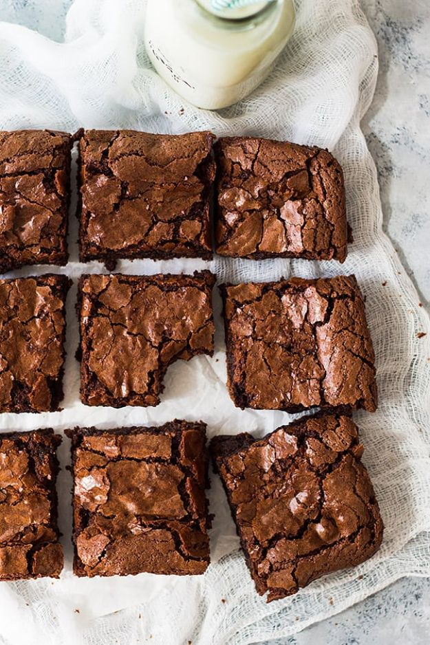 Brownie Recipes | Homemade Chewy Brownies - Easy and Healthy Recipe Ideas for Brownies - Chocolate, Blondies, Gluten Free and Caramel