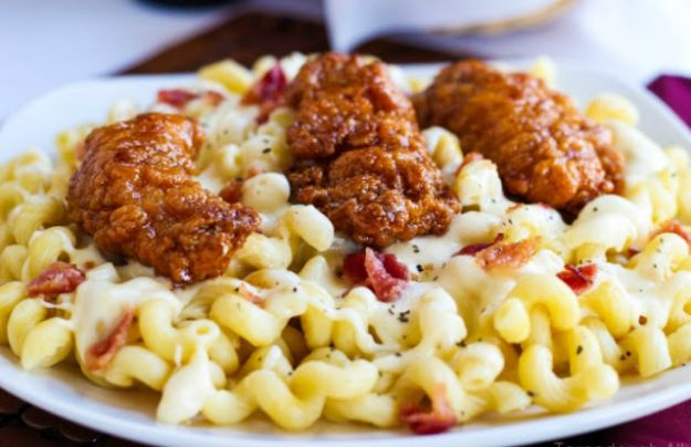 Mac and Cheese Recipes | Honey Pepper Chicken Mac and Cheese - Easy Recipe Ideas for Macaroni and Cheese - Quick Side Dishes