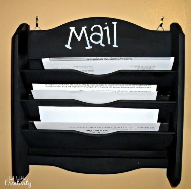 DIY Mail Organizers - Mail Holder Makeover - Cheap and Easy Ideas for Getting Organized - Creative Home Decor on A Budget - Farmhouse, Modern and Rustic Mail Sorter, Organizer