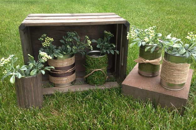 DIY Ideas With Tin Cans - Make Your Own Flower Pot - Cheap and Easy Organizing Projects and Crafts Made With A Tin Can - Cool Teen Craft Tutorials and Home Decor
