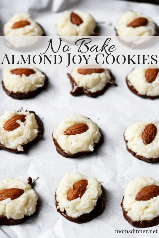 No Bake Cookie Recipes | No-Bake Almond Joy Cookies - Easy and Quick Recipe Ideas for Cookies | Oatmeal, Healthy, Gluten free