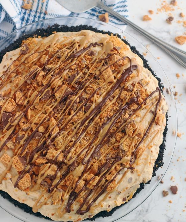 No Bake Desserts | No Bake Butterfinger Pie - Quick Dessert Ideas and Easy Sweets You Can Make Without Baking - Healthy Cookies and Pie