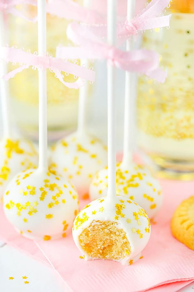 No Bake Cookie Recipes | No Bake Champagne Cookie Pops - Easy and Quick Recipe Ideas for Cookies | Oatmeal, Healthy, Gluten free