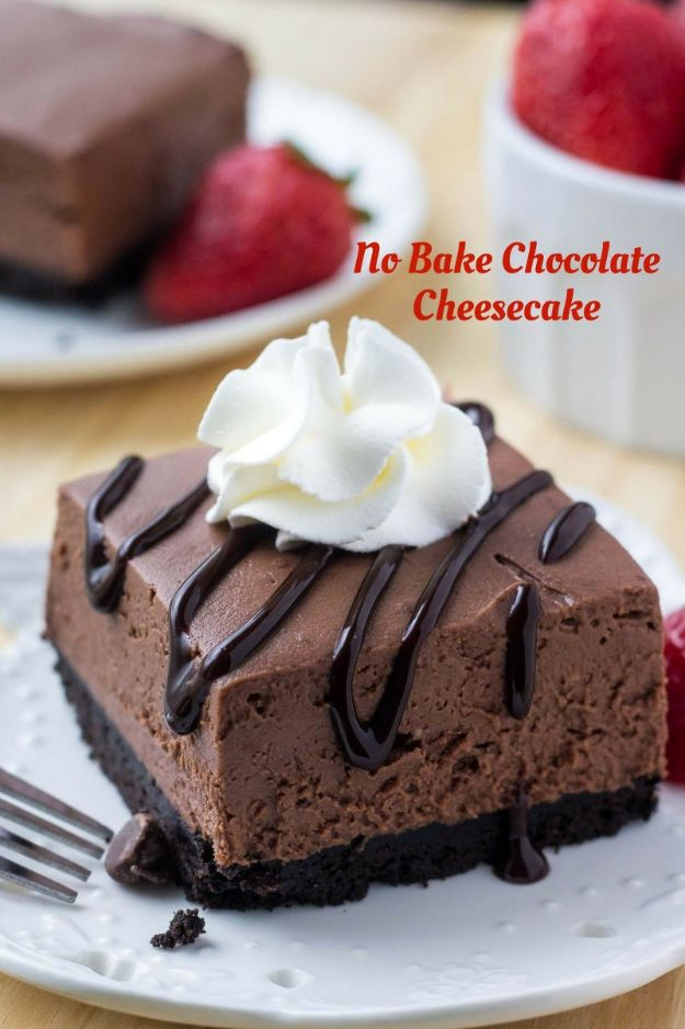 No Bake Desserts | No Bake Chocolate Cheesecake - Quick Dessert Ideas and Easy Sweets You Can Make Without Baking - Healthy Cookies and Pie