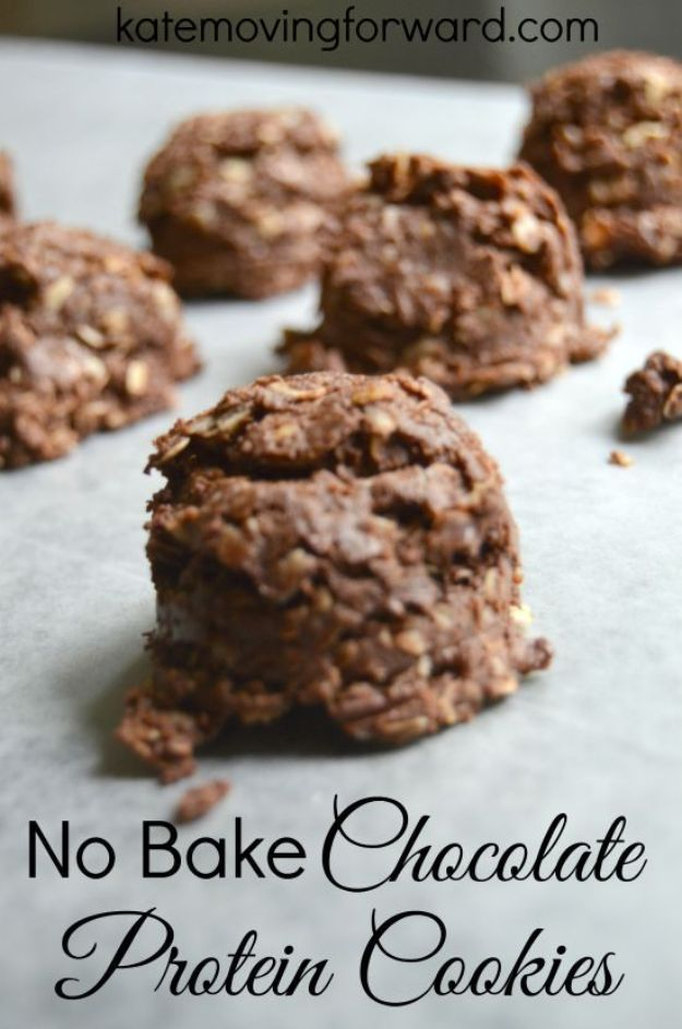 No Bake Cookie Recipes | No Bake Chocolate Protein Cookies - Easy and Quick Recipe Ideas for Cookies | Oatmeal, Healthy, Gluten free