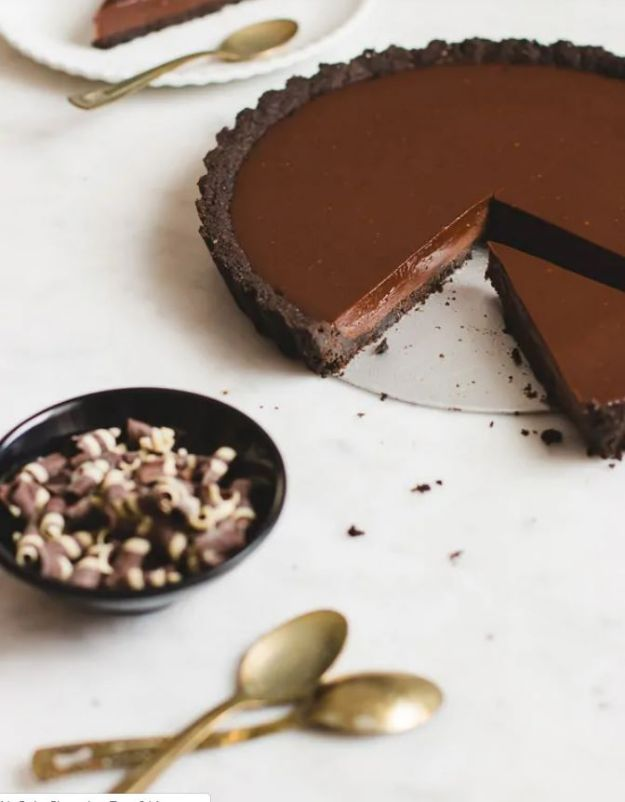No Bake Dessert Recipes | No Bake Chocolate Tart - Quick Dessert Ideas and Easy Sweets You Can Make Without Baking - Healthy Cookies and Pie