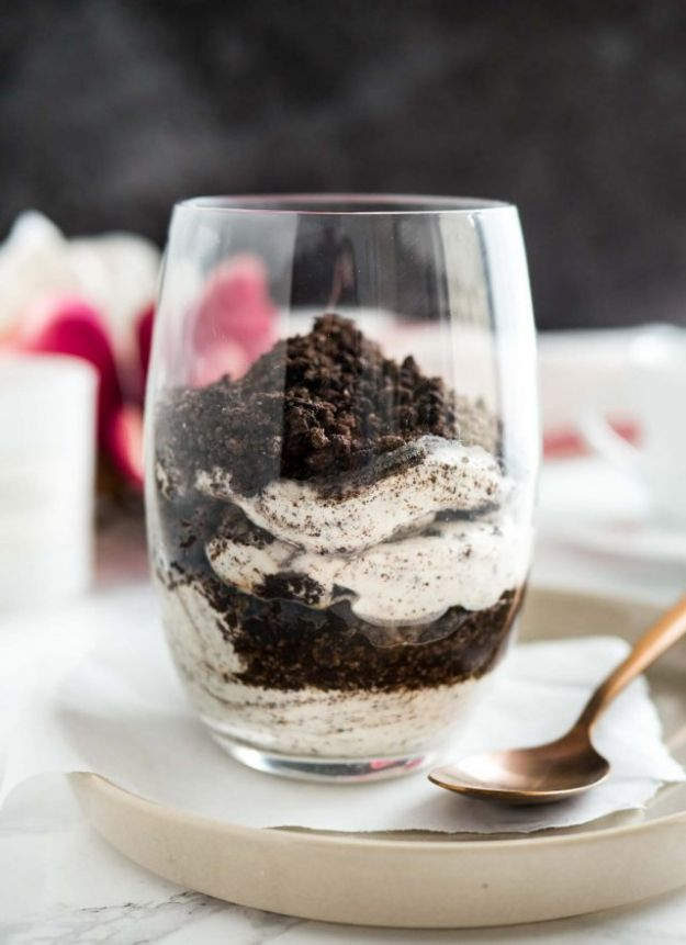 No Bake Desserts | No Bake Oreo Cheesecake Parfaits - Quick Dessert Ideas and Easy Sweets You Can Make Without Baking - Healthy Cookies and Pie
