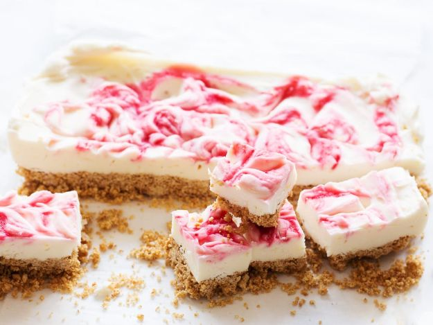 No Bake Cookie Recipes | No Bake Raspberry Cheesecake Bars - Easy and Quick Recipe Ideas for Cookies | Oatmeal, Healthy, Gluten free