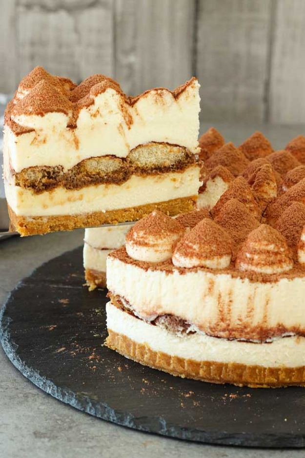 No Bake Desserts | No-Bake Tiramisu Cheesecake - Quick Dessert Ideas and Easy Sweets You Can Make Without Baking - Healthy Cookies and Pie