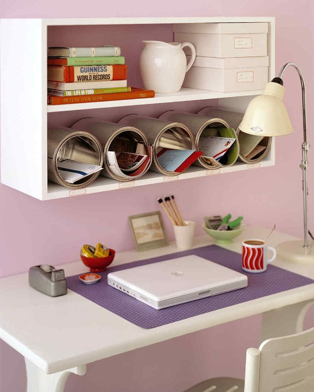 DIY Ideas With Tin Cans - Paint-Can Cubbies - Cheap and Easy Organizing Projects and Crafts Made With A Tin Can - Cool Teen Craft Tutorials and Home Decor