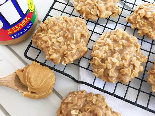 No Bake Cookie Recipes | Peanut Butter No Bake Cookies - Easy and Quick Recipe Ideas for Cookies | Oatmeal, Healthy, Gluten free