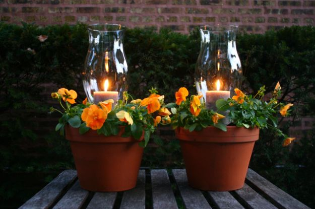 DIY Ideas for Clay Pots - Potted Candle Planters - Cute Gardening Projects Tutorials for Decorating Pots - Pretty Rustic and Farmhouse Planters for Cheap Home Decor