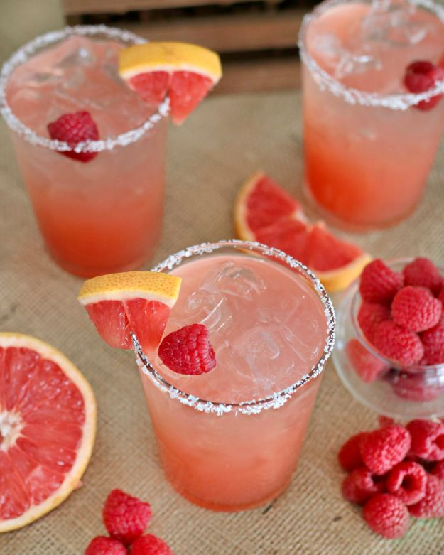 Margarita Recipes - Raspberry Grapefruit Margarita - Drink Recipes for a Party - Recipe Ideas for Blender Margaritas - Lime, Strawberry, Fruit | Easy Drinks With Tequila