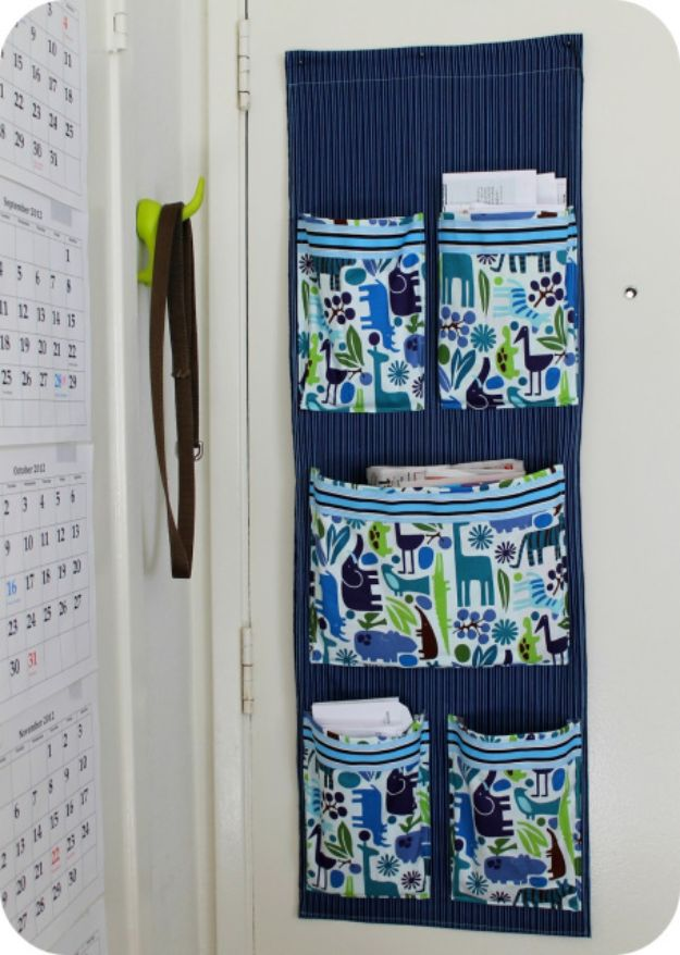 DIY Mail Organizers - Sew a Fabric Mail Organizer for the Wall - Cheap and Easy Ideas for Getting Organized - Creative Home Decor on A Budget - Farmhouse, Modern and Rustic Mail Sorter, Organizer