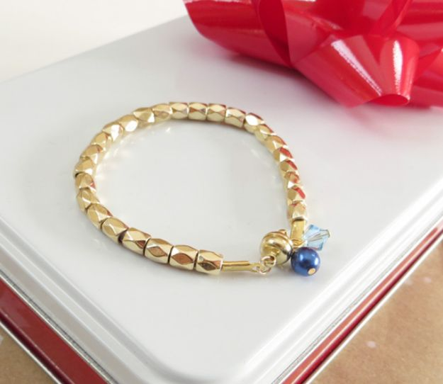 Easy Mothers Day Gifts - Simple DIY Birthstone Bracelet - Cute Crafts and Homemade Presents for Mom | Thoughtful Gift Ideas to Make For Mother