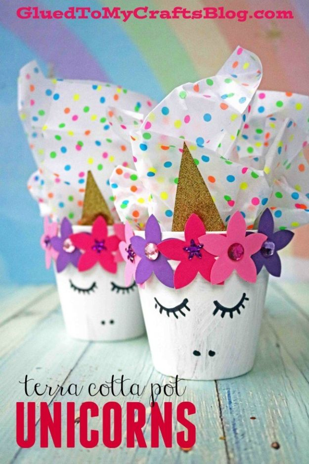 DIY Ideas for Clay Pots - Terra Cotta Pot Unicorn - Cute Gardening Projects Tutorials for Decorating Pots - Pretty Rustic and Farmhouse Planters for Cheap Home Decor