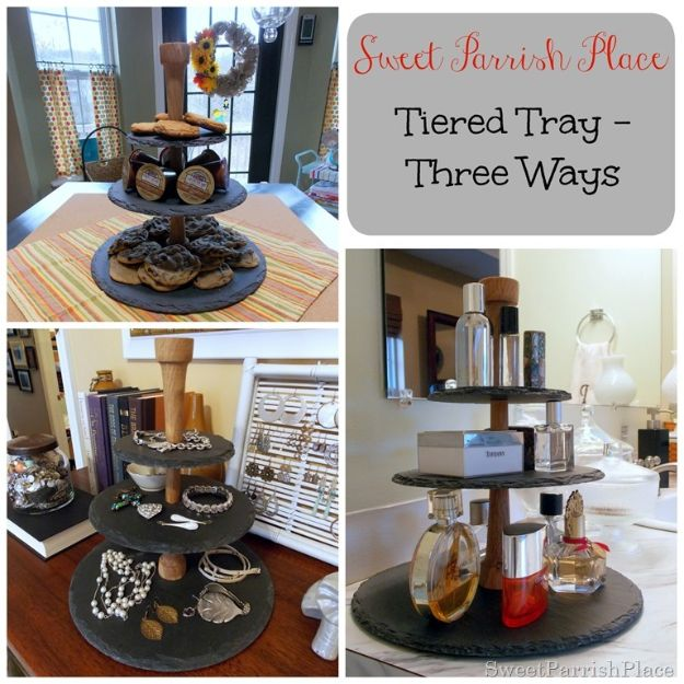 DIY Vanity Trays - Tiered Tray–Three Ways - Easy Homemade Decor for Bathroom, Bedroom and Vanities - Tray to Store Jewelry and Accessories With These Cool and Easy Crafts