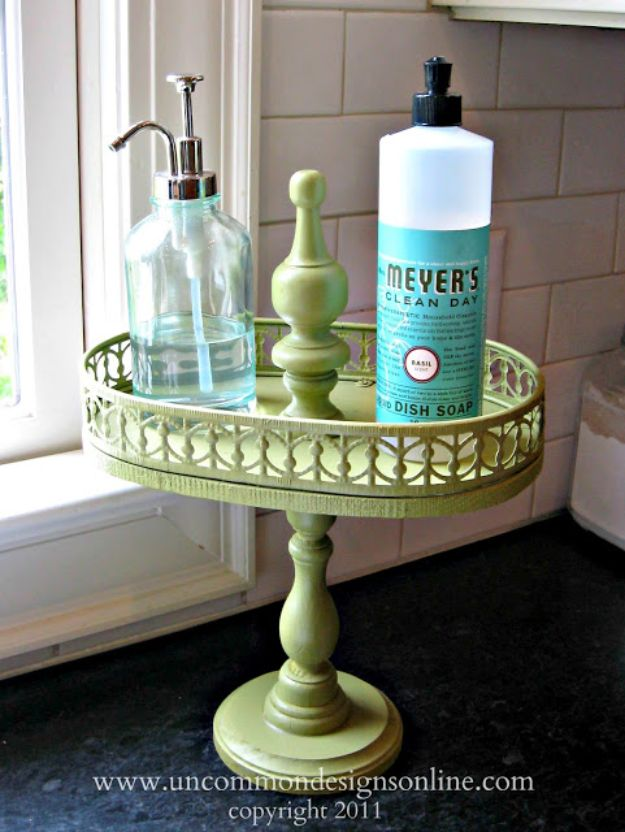 DIY Vanity Trays - Tiered Vintage Tray - Easy Homemade Decor for Bathroom, Bedroom and Vanities - Tray to Store Jewelry and Accessories With These Cool and Easy Crafts