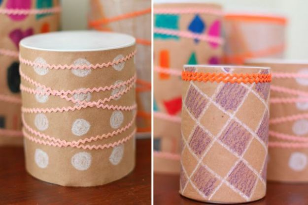 DIY Ideas With Tin Cans - Tin Can Drums - Cheap and Easy Organizing Projects and Crafts Made With A Tin Can - Cool Teen Craft Tutorials and Home Decor