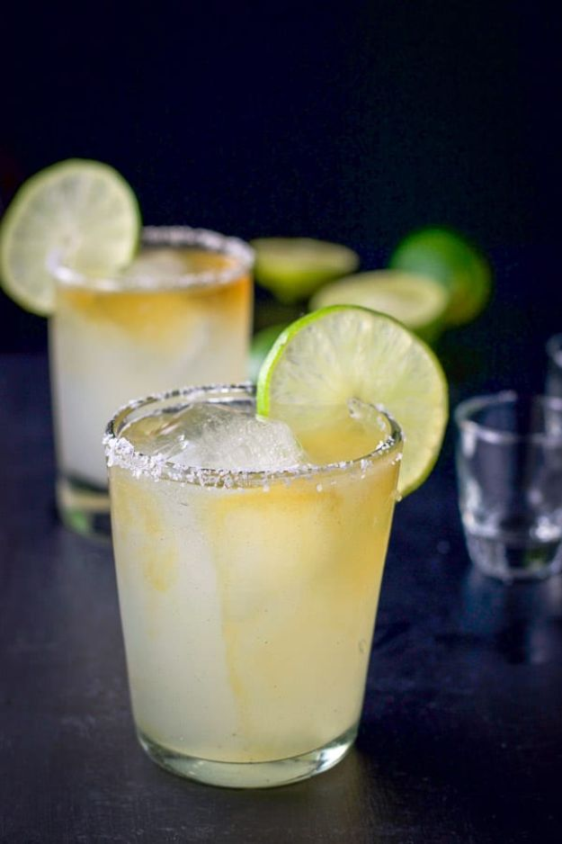 Margarita Recipes - Ultimate Cadillac Margarita - Drink Recipes for a Party - Recipe Ideas for Blender Margaritas - Lime, Strawberry, Fruit | Easy Drinks With Tequila