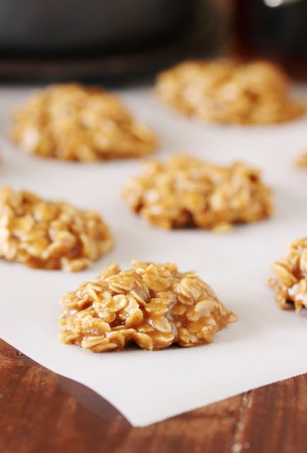 No Bake Cookie Recipes | Vermont Maple No Bake Cookies - Easy and Quick Recipe Ideas for Cookies | Oatmeal, Healthy, Gluten free