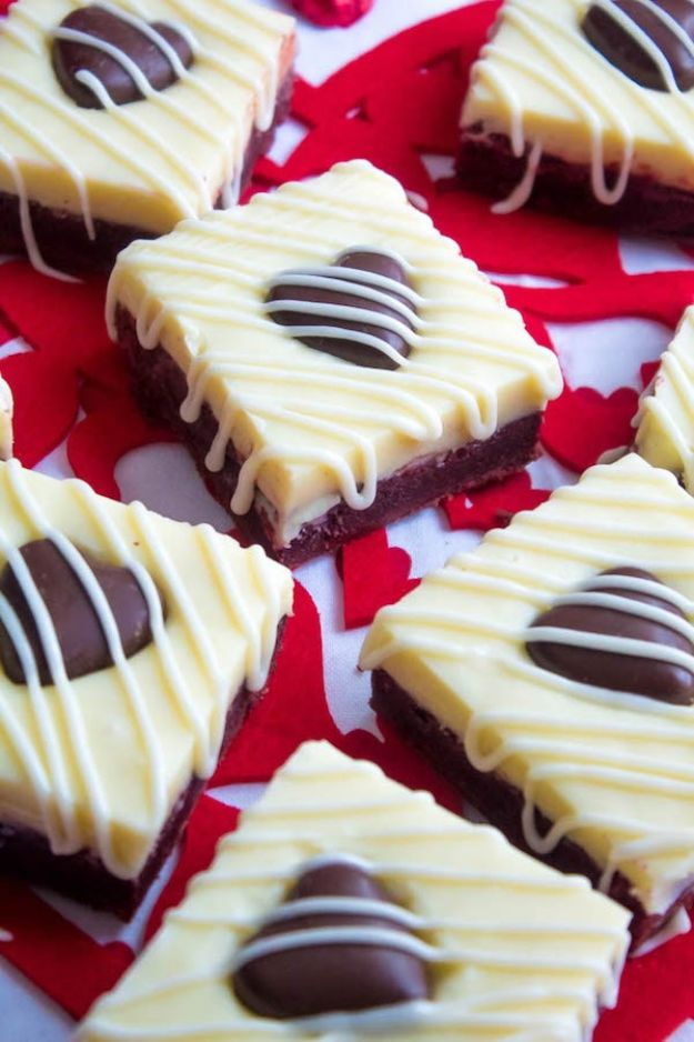 Brownie Recipes   White Chocolate Fudge Red Velvet Brownies - Easy and Healthy Recipe Ideas for Brownies - Chocolate, Blondies, Gluten Free and Caramel