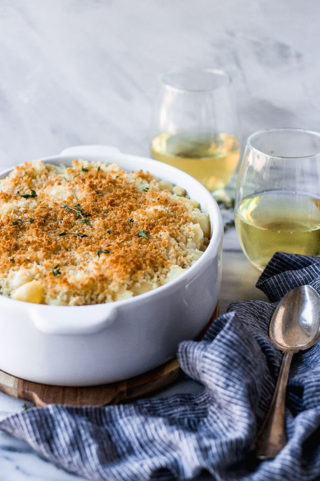 Mac and Cheese Recipes | White Wine Macaroni and Cheese - Easy Recipe Ideas for Macaroni and Cheese - Quick Side Dishes