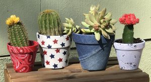 These Easy DIY Fabric Covered Pots Just Won Best Craft Idea