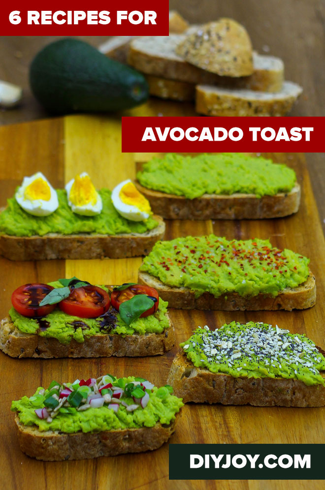 Easy Snack Recipes for Dessert - Avocado Toast Recipe - Quick Recipes and Tricks for Making After Workout and After School Snack - Fast Ideas for Instant Small Meals and Treats - No Bake, Microwave and Simple Prep Makes Snacking Fun #snacks #recipes