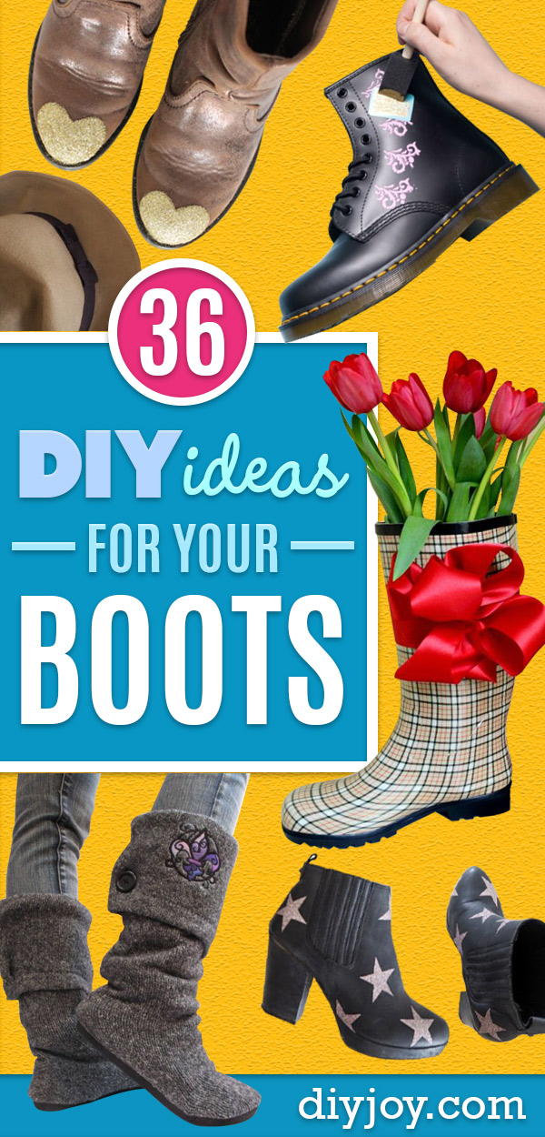 DIY Ideas For Your Boots | Cool Way to Update Old Leather Boot | Denim, Painting, Decorating Cowboy Boots
