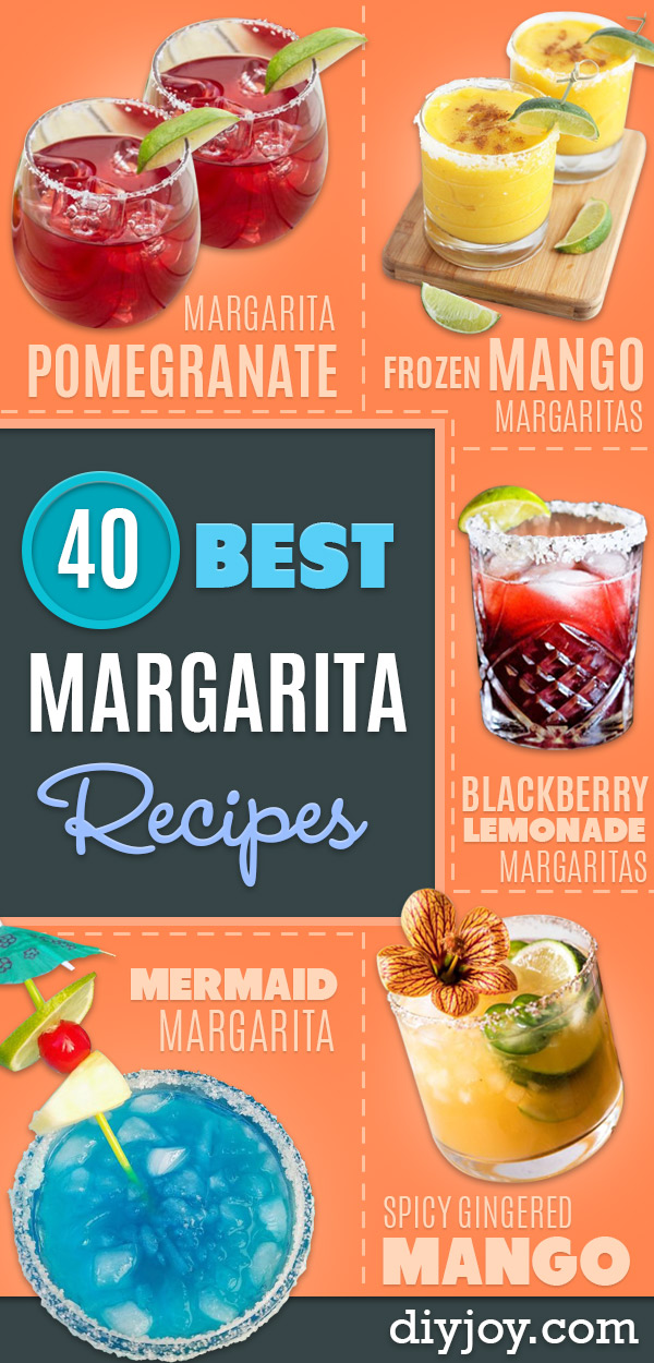 Margarita Recipes - Drink Recipes for a Party - Recipe Ideas for Blender Margaritas - Lime, Strawberry, Fruit | Easy Drinks With Tequila