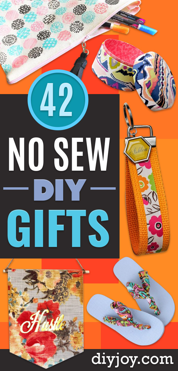 No Sew Gifts to Make - Easy DIY Christmas Presents -DIY No Sew Projects to Make for Clothes, Last Minute Gift Ideas