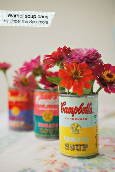 DIY Ideas With Tin Cans - DIY Warhol Soup Cans - Cheap and Easy Organizing Projects and Crafts Made With A Tin Can - Cool Teen Craft Tutorials and Home Decor