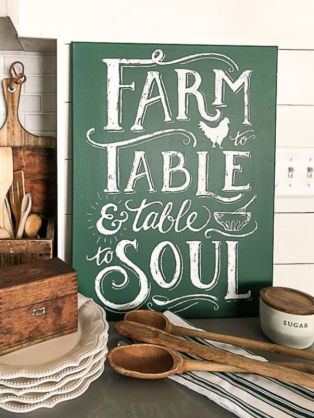 Magnolia Homes Gift Ideas - Chalk Couture – DIY Farmhouse Sign - DIY Home Decor Inspired by Chip and Joanna Gaines - Fixer Upper Gifts - Do It Yourself Decorating On A Budget With Farmhouse Style Decorations for the Home
