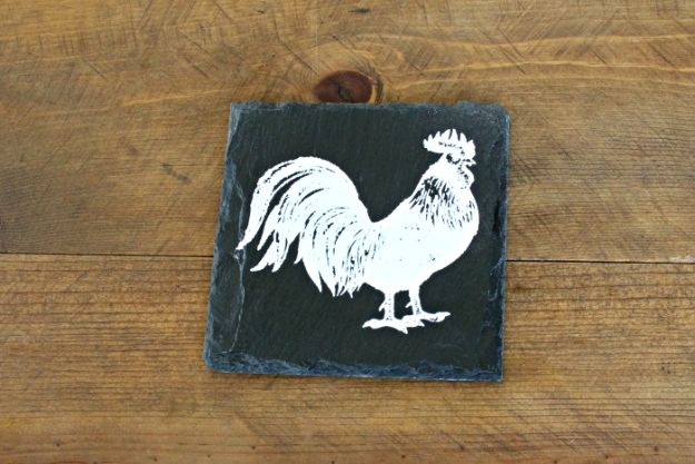 Magnolia Homes Gift Ideas - Chalk Couture Farmhouse Style Slate DIY Coasters - DIY Home Decor Inspired by Chip and Joanna Gaines - Fixer Upper Gifts - Do It Yourself Decorating On A Budget With Farmhouse Style Decorations for the Home