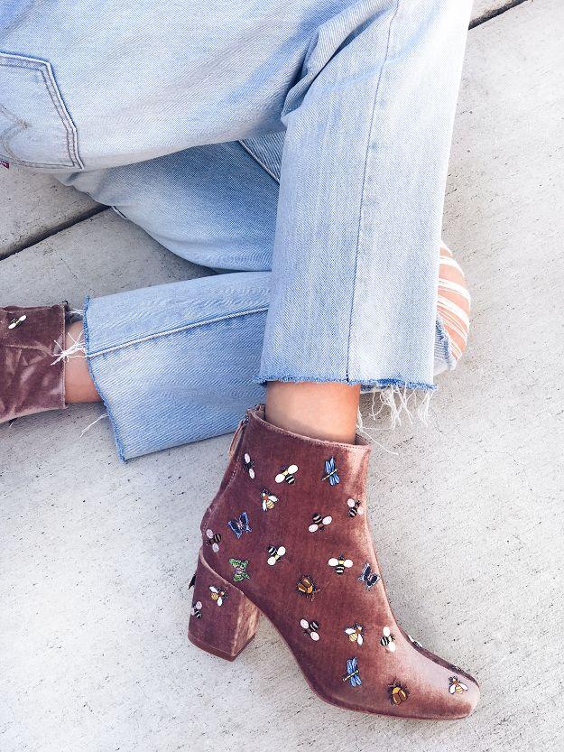 DIY Ideas For Your Boots | DIY Bug Patch Boots l Cool Way to Update Old Leather Boot | Denim, Painting, Decorating Cowboy Boots