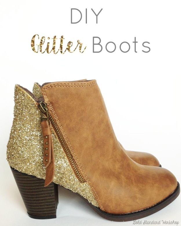 DIY Ideas For Your Boots | DIY Glitter Boots l Make Baroque-Inspired Boots l Cool Way to Update Old Leather Boot | Denim, Painting, Decorating Cowboy Boots