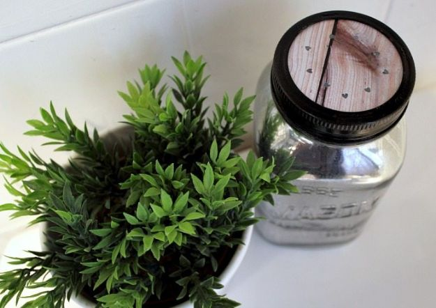 Magnolia Homes Gift Ideas - DIY Mercury Glass Mason Jar Air Freshener - DIY Home Decor Inspired by Chip and Joanna Gaines - Fixer Upper Gifts - Do It Yourself Decorating On A Budget With Farmhouse Style Decorations for the Home
