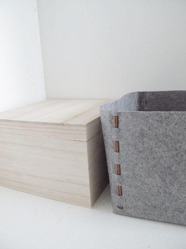 DIY No Sew Fabric Storage Box