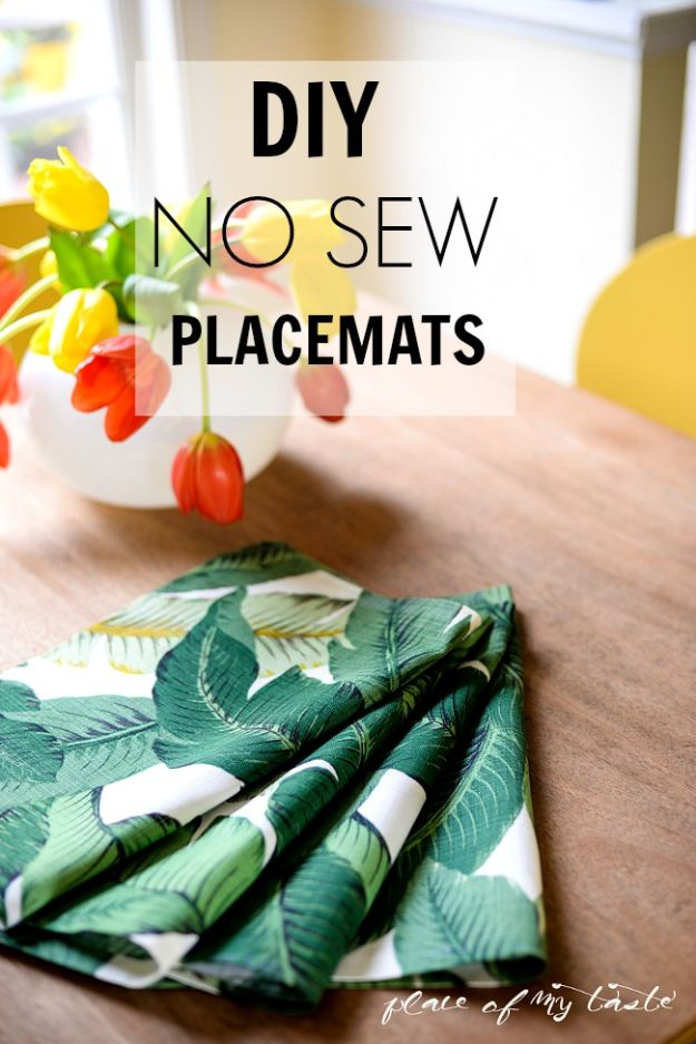 No Sew Gift Ideas - Quick Last Minute Holiday Gifts for Her - DIY No Sew Placemats