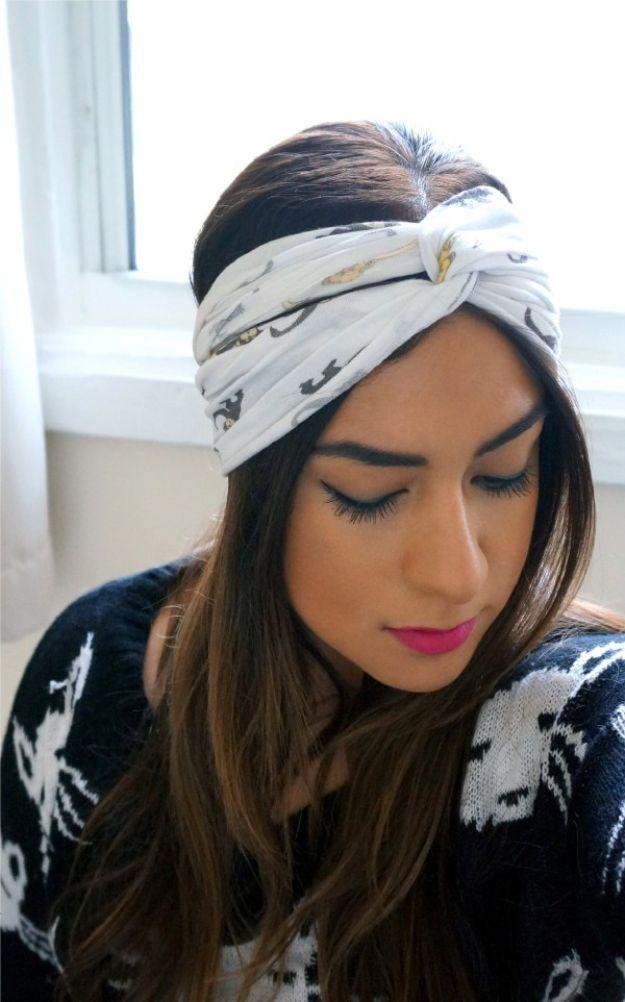 No Sew Gifts to Make - Easy DIY Christmas Presents -DIY No Sew Turban Headband