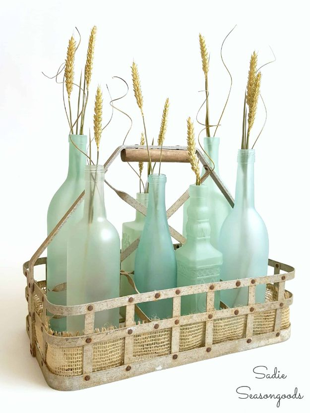 Magnolia Homes Gift Ideas - DIY Sea Glass Bottles - DIY Home Decor Inspired by Chip and Joanna Gaines - Fixer Upper Gifts - Do It Yourself Decorating On A Budget With Farmhouse Style Decorations for the Home