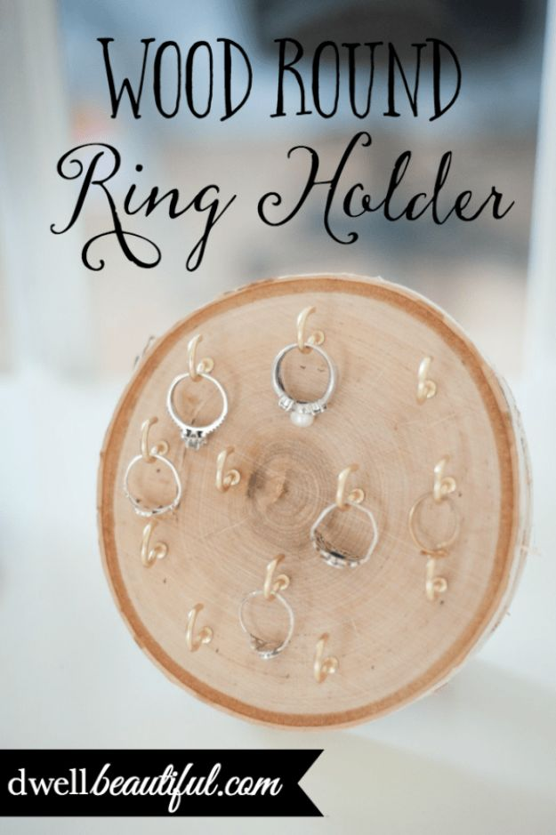 Magnolia Homes Gift Ideas - DIY Wood Round Ring Holder - DIY Home Decor Inspired by Chip and Joanna Gaines - Fixer Upper Gifts - Do It Yourself Decorating On A Budget With Farmhouse Style Decorations for the Home
