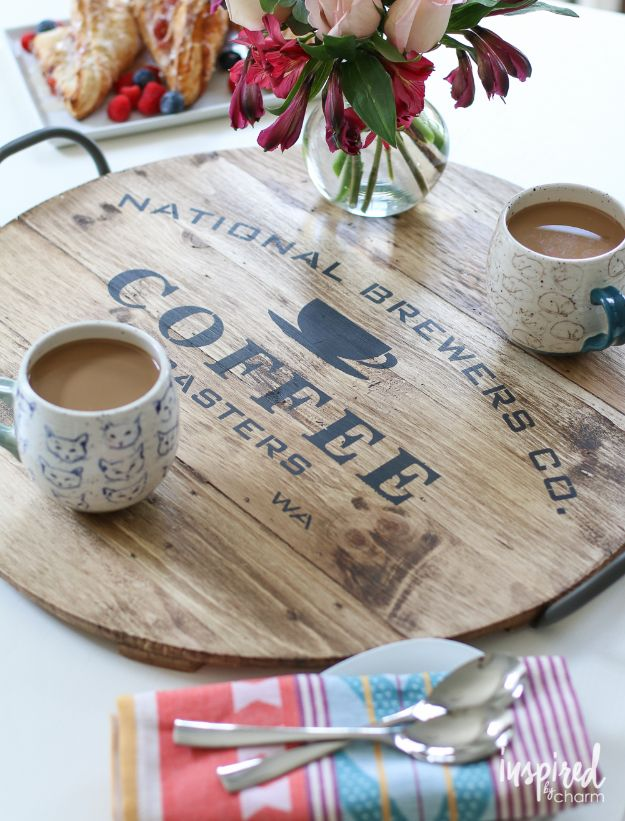 Magnolia Homes Gift Ideas - Fabulous DIY Farmhouse Serving Tray - DIY Home Decor Inspired by Chip and Joanna Gaines - Fixer Upper Gifts - Do It Yourself Decorating On A Budget With Farmhouse Style Decorations for the Home