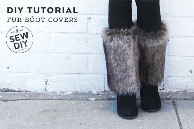 DIY Ideas For Your Boots | Fur Boot Covers l Cool Way to Update Old Leather Boot | Denim, Painting, Decorating Cowboy Boots
