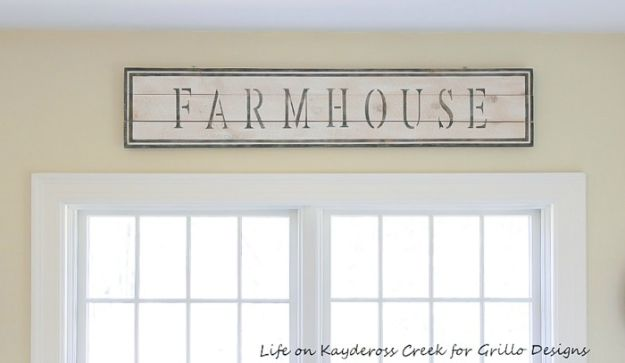 Magnolia Homes Gift Ideas - Make A Rustic DIY Farmhouse Sign With Stencils - DIY Home Decor Inspired by Chip and Joanna Gaines - Fixer Upper Gifts - Do It Yourself Decorating On A Budget With Farmhouse Style Decorations for the Home